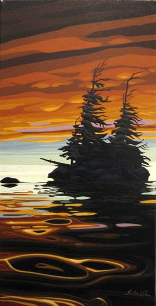 Schooner Rock ~ by Chili Thom, Canadian Artist