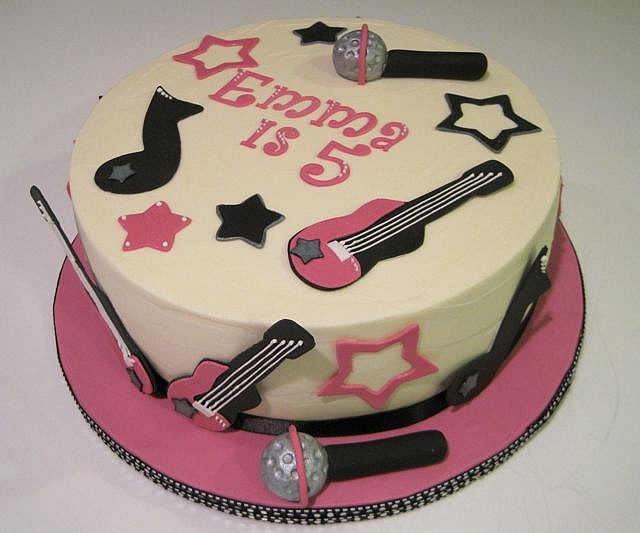 Rock Star Cake All Decorations Made From Fondant Covered In