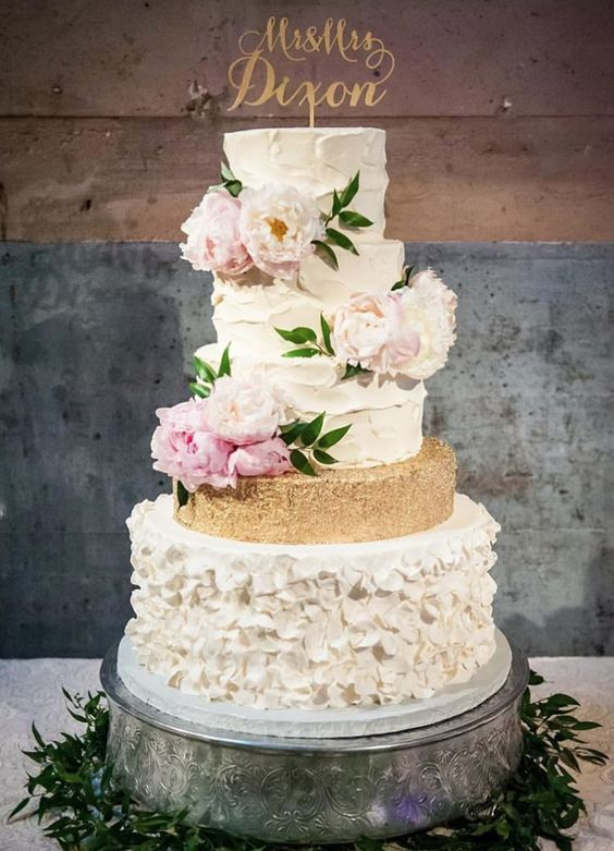 Featured Cake: Sugar Bee Sweets Bakery; Wedding cake idea.