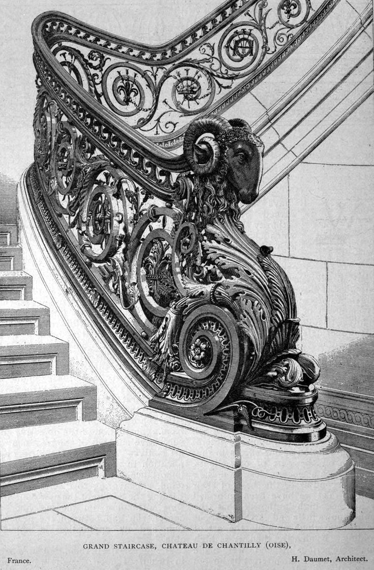 Design for the Grand Staircase of the Château de Chantilly