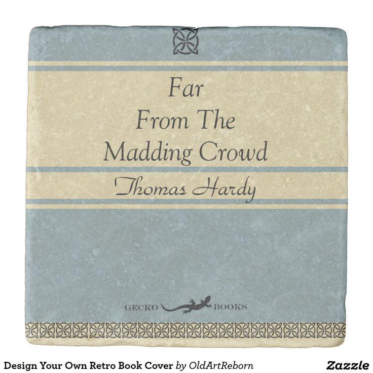 Design Your Own Retro Book Cover Stone Coaster