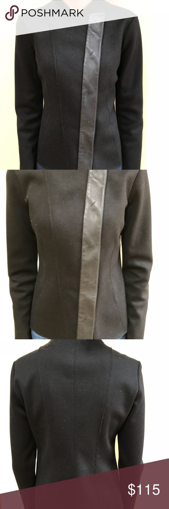 Emporio Armani Jacket Only worn once! Retail: $850. Black color Emporio Armani Jackets & Coats Blazers