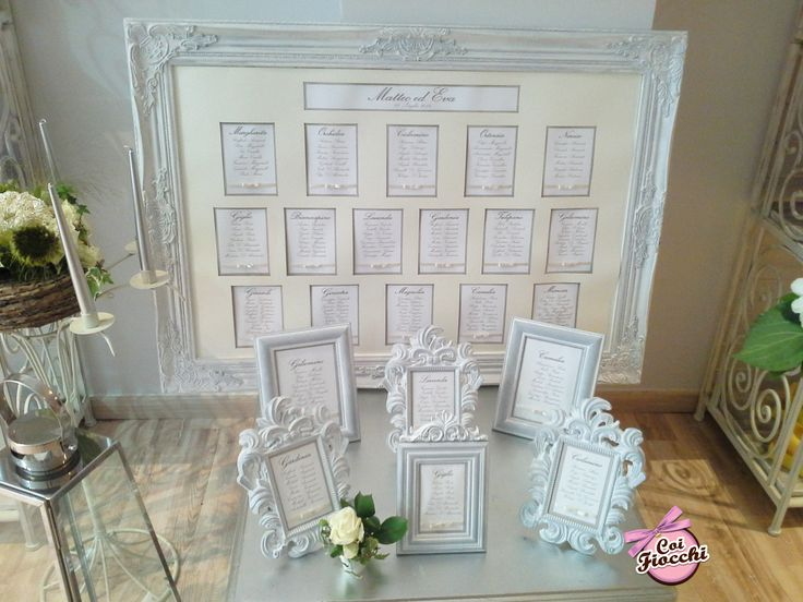 Tableau mariage classico per Eva&Matteo
