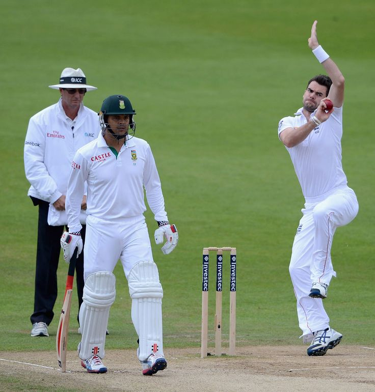 Cricinfo Photos - James Anderson bowled well but without early reward, England v South Africa, 2nd Investec Test, Headingley, 5th day, August 6, 2012.