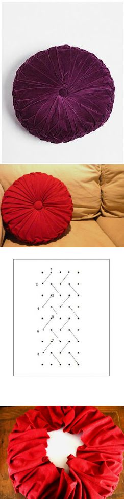четыре квадратных стены: туториал: как сделать круглый узкой складкой подушки