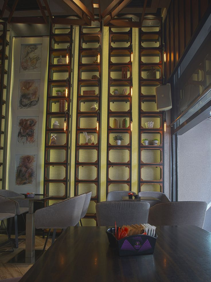 Bo Cafe Florina #interior #design #EpilisisStudio #cafe #bar #industrial #bookcase