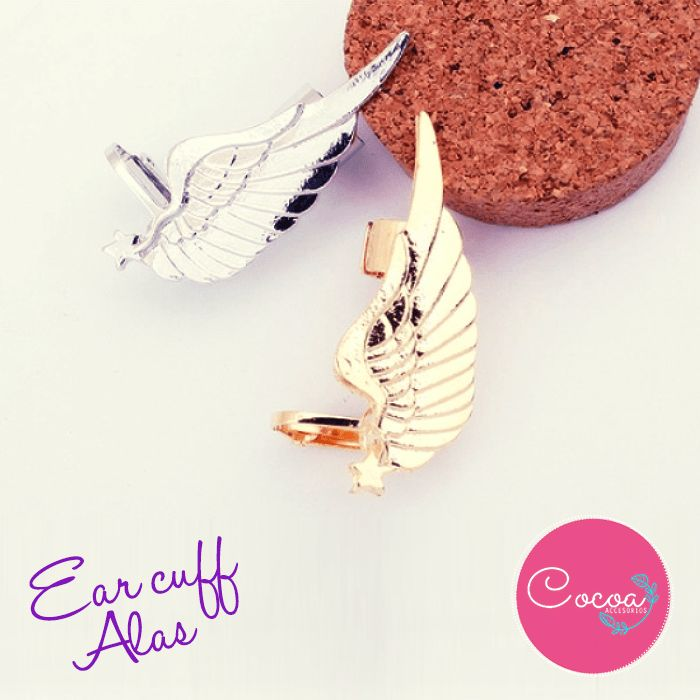 Ear cuff alas/ ear cuff Wings #Cocoaccesorios #accesorioscocoa #accesoriosParaMujer