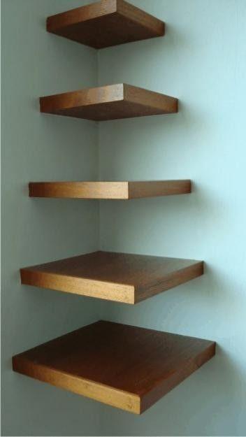 como colocar estantes flotantes de madera - Buscar con Google
