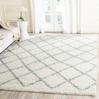 Shop for Safavieh Dallas Shag Ivory/ Seafoam Trellis Rug (5' 1 x 7' 6). Get free shipping at Overstock.com - Your Online Home Decor Outlet Store! Get 5% in rewards with Club O! - 18310477
