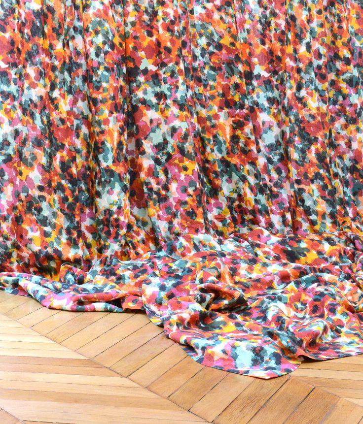 tissu rebelle multicouleurs sonia rykiel maison by lelievre paris collection janvier 2014 www. Black Bedroom Furniture Sets. Home Design Ideas