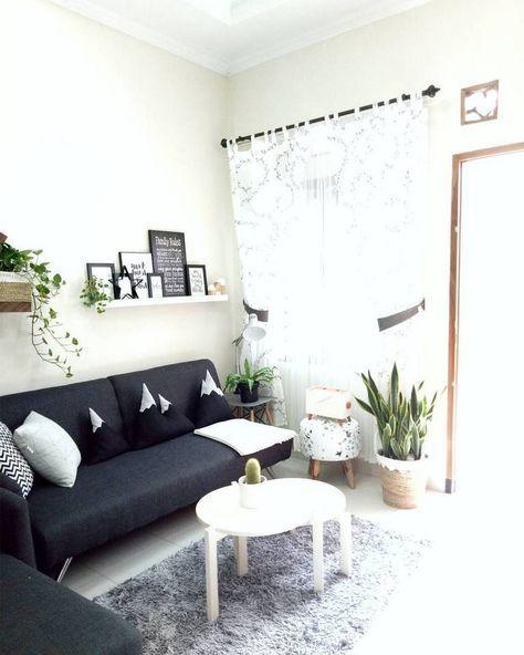 Sofa Minimalis Untuk Ruang Tamu Kecil Dengan Meja Ikea