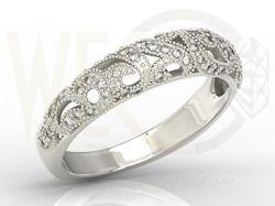 Pierścionek z białego złota z cyrkoniami / Ring made from white gold with zircons / 886 PLN / #ring #jewellery #pierscionek #whitegold #gold #zircons #cyrkonie