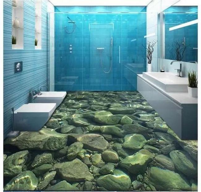 25 3d Flooring Inspirations For Bathroom Haus Streichen Badezimmer Tapete Epoxit Boden