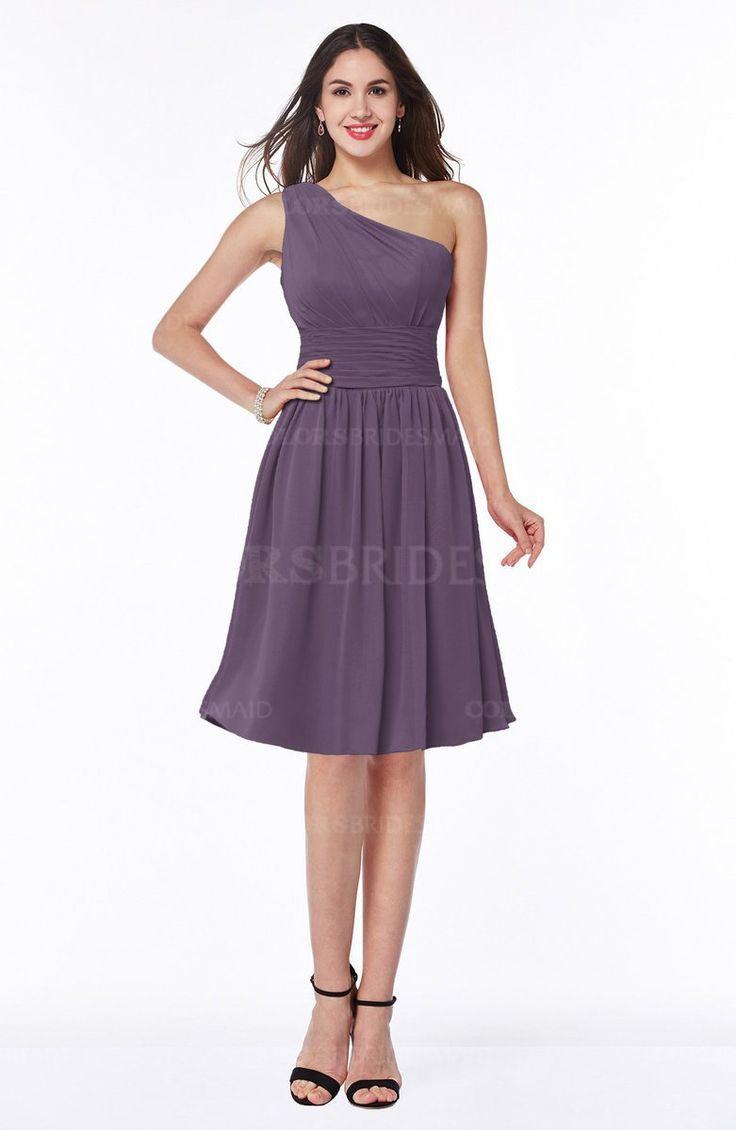 The 25 best raspberry bridesmaid dresses ideas on pinterest eggplant sexy asymmetric neckline sleeveless zip up chiffon knee length plus size bridesmaid dresses ombrellifo Images