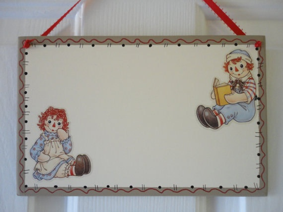 Personalized Wooden RAGGEDY ANN and ANDY by CuteAsAButtonBlocks, $12.99