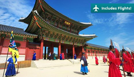 Our Deal - 9 Day tour of South Korea with return flights ex. Syd or Melb for just $1,799pp^. Includes accommodation, English speaking tour guide, most meals