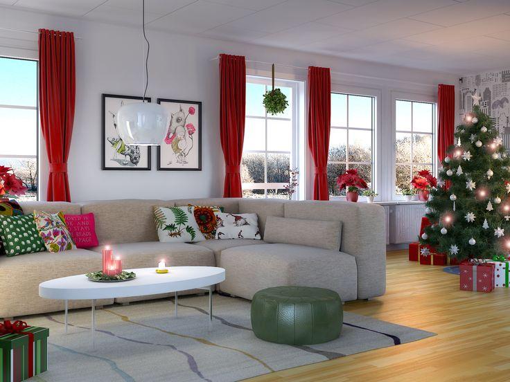 Ett Älvsbyhus modell Tyr redo för julen!
