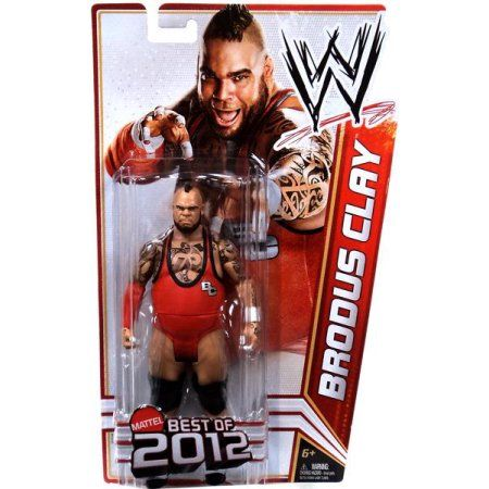 WWE Wrestling Best of 2012 Brodus Clay Action Figure, Multicolor