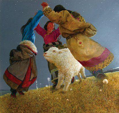 Тибетское гадание по картинам Ван И-Гуана - Дочь Ветра и Огня