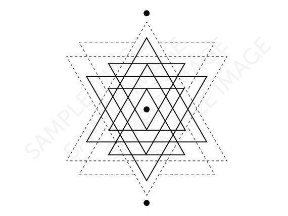 Best Geometric Tattoo - Medium Size temporary fake tattoo geometric start by Tatzarazzi