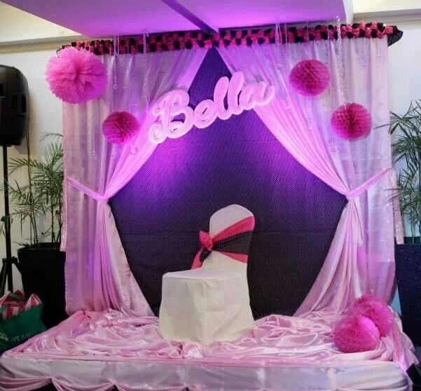 My Barbie Themed Stage Set Up