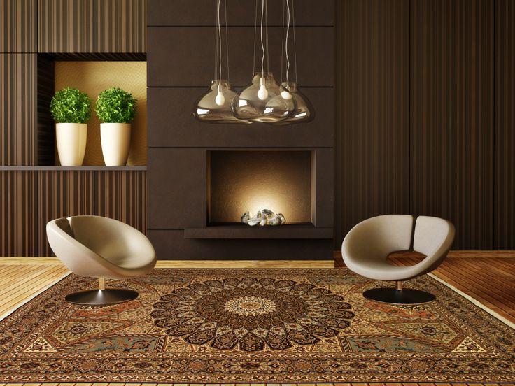 Een heel goed voorbeeld van een modern #interieur met een mooi #Perzisch tapijt. Dit tapijt betreft een Tabriz met veel natuurzijde. De Tabriz #tapijten behoren tot de mooiste van de hele wereld.