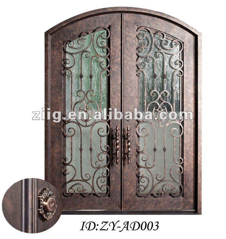 Puerta de hierro forjado puertas de hierro pinterest - Puertas exterior hierro ...
