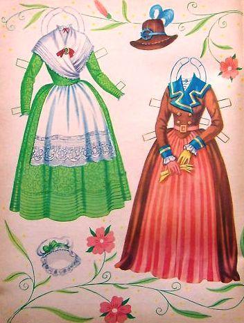 Sharon's Sunlit Memories: Saalfield American Colonial Paper Dolls