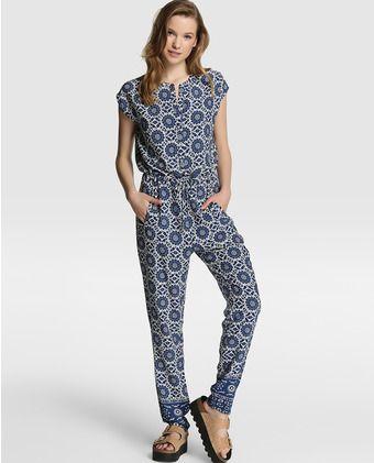 Mono largo de mujer Pepe Jeans estampado en azul