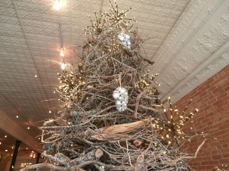 3D Christmas Tree made out of branches