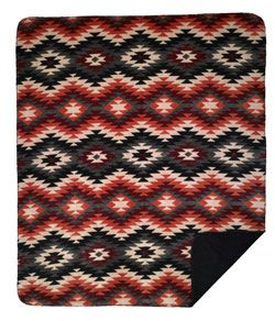 Native American Pattern Throw, made in America.