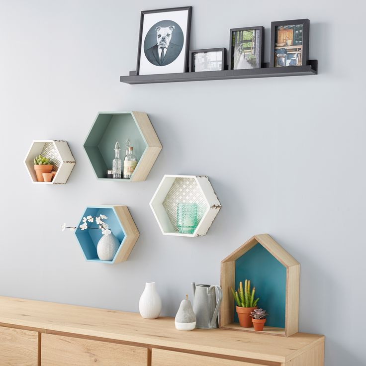 Les 25 meilleures id es de la cat gorie etagere hexagonale for Decoration murale hexagonale