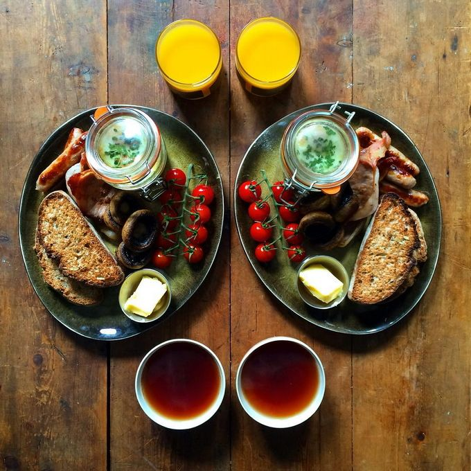 Симметричные завтраки для себя и своей половины (Интернет-журнал ETODAY)