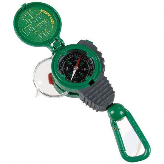 3-in-1 Compass-Magnifier-Mores Code LED Tool - Expedition One Kit | Backyard Safari Outfitters