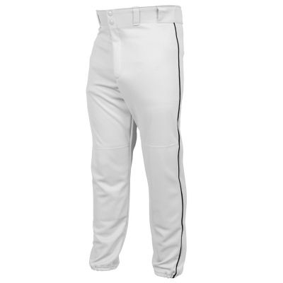 Find quality Mizuno baseball pants that you can wear while playing a baseball game. Find greatly designed piped baseball pants that are available in a variety of different sizes online. You can also check out the Rawlings baseball pants for a different branding option. Both brands also offer the classic pinstripe baseball pants design available in several colors.