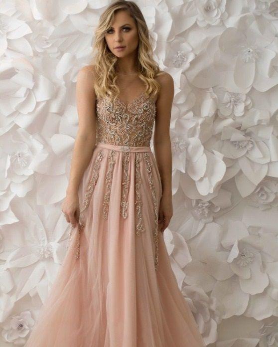 vestido de festa rosa bordado. Vestido de festa para baile de formatura e madrinha de casamento