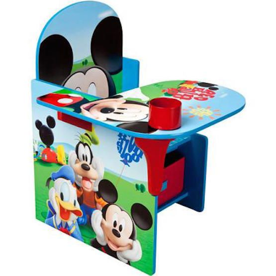 Mickey Mouse Desk With Chair And Storage Bin Color Draw Read Toddler Furniture  #Disney