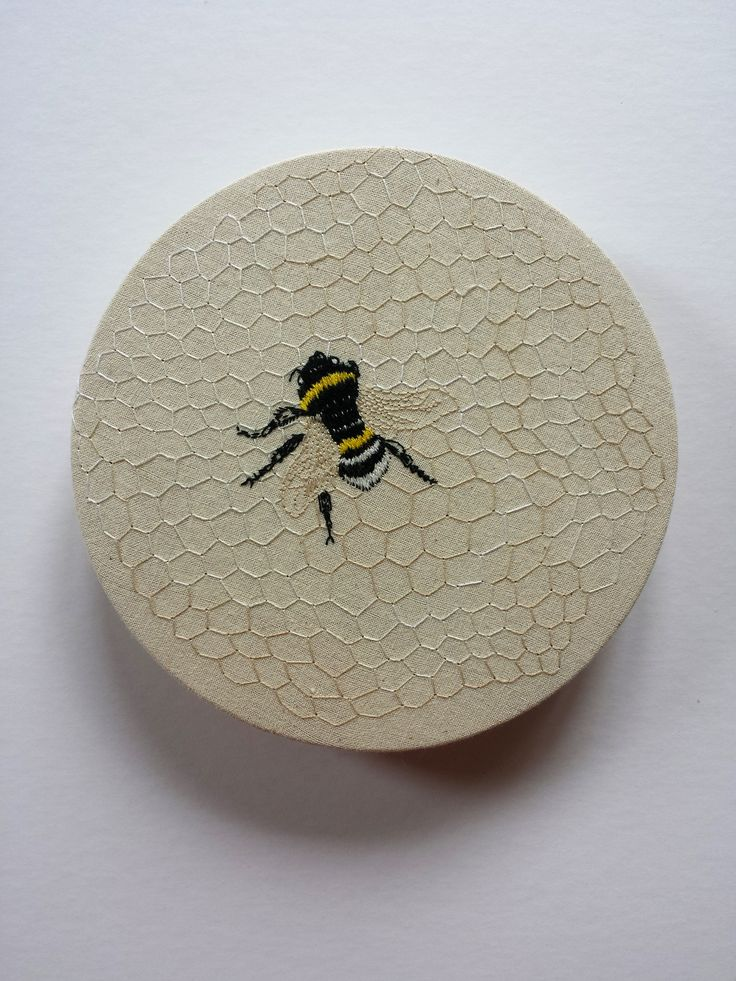"""Refuge"" Embroidery on cotton – Ngaio Rue Blackwood"