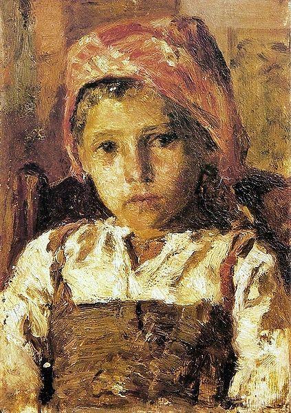 Head of a Girl by António de Carvalho da Silva Porto