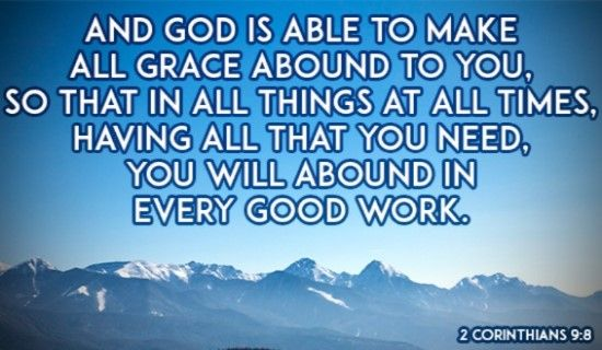 God's Grace Gives Me Everything!