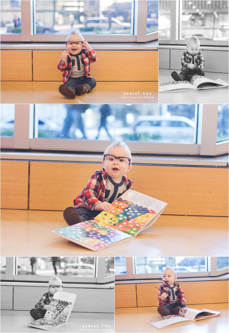 Library Photo Session for 9 month old, Seattle