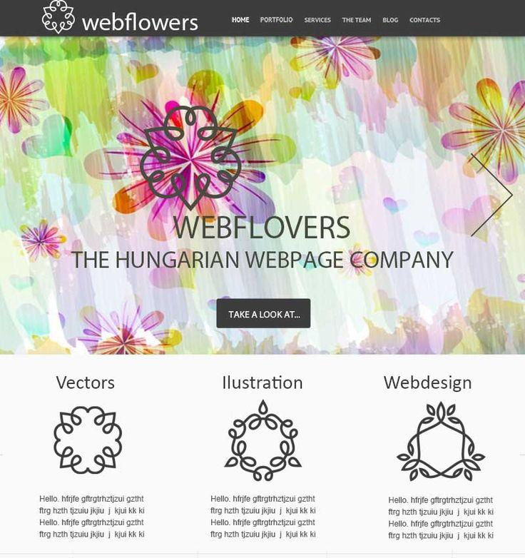 Webflower weboldal terv | Kreatív Webdesign Tanfolyam