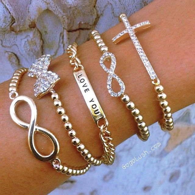 ♥♥Not much on gold, but these would be super cute in silver.