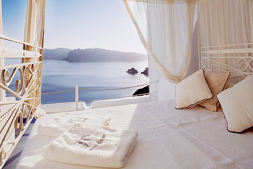 .Beds, The View, Dreams House, Beach, Bedrooms, Places, Greek Islands, Santorini, Hotels