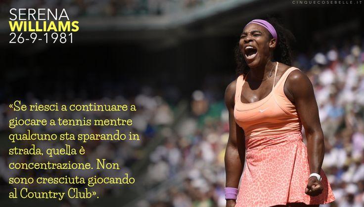 35 anni dalla nascita di Serena Williams