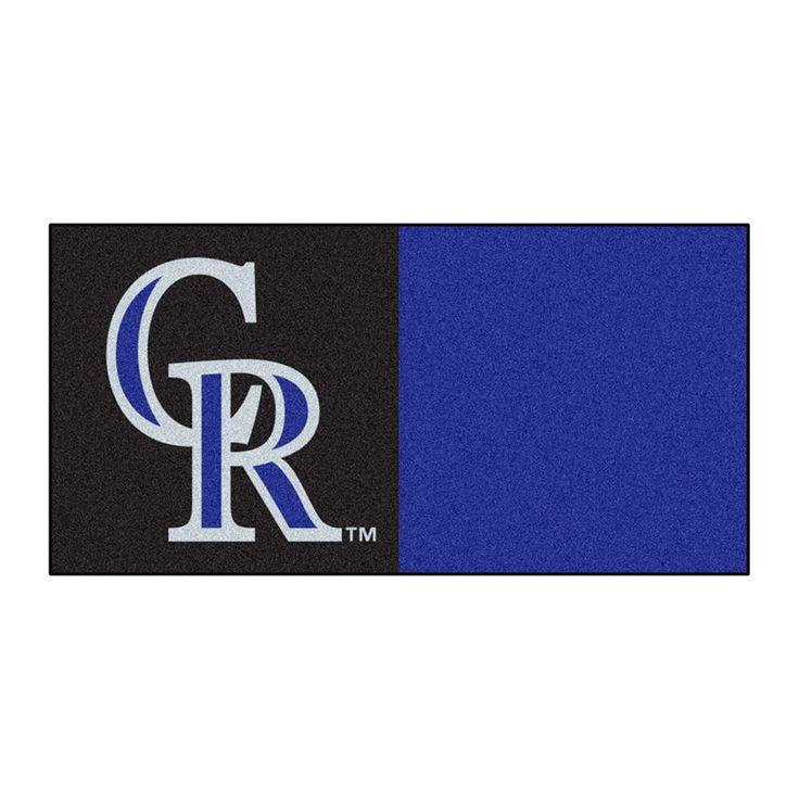 Colorado Rockies MLB Team Logo Carpet Tiles
