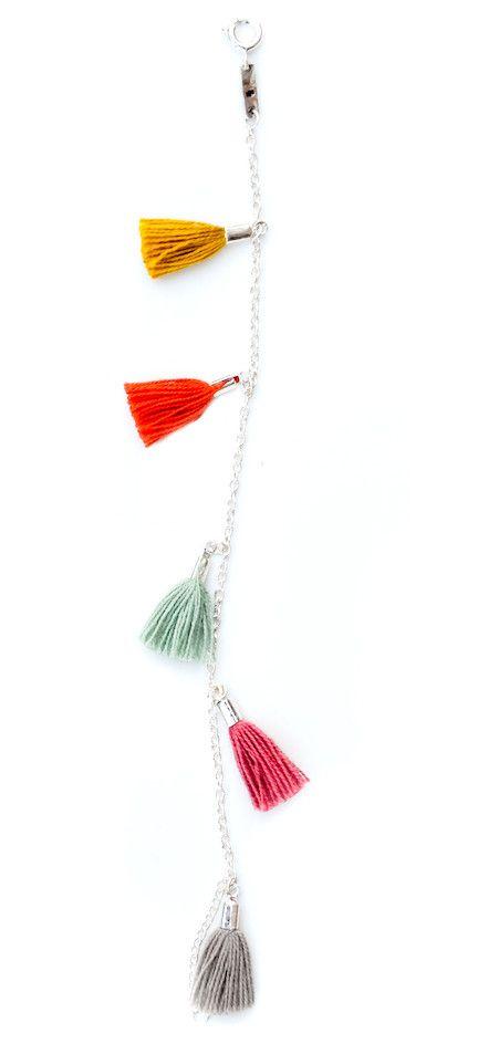 Tassel Bracelet in Confetti