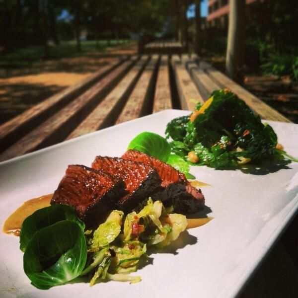 Sweet Soy Braised Beef, Brussels sprouts with bacon and grain mustard ...