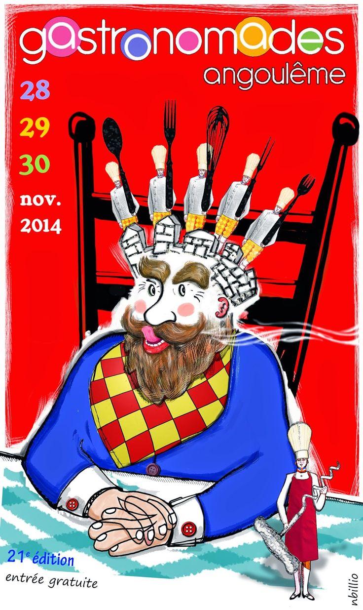 Affiche Angoulême - Les Gastronomades | Nicolas B I L L I O T E L