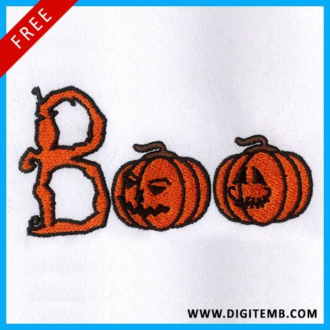 Boo Halloween Free Embroidery Design is available on our website here: https://www.digitemb.com/boo-halloween-embroidery-design.php  Get more Halloween designs from here: https://www.digitemb.com/free-digitized-designs